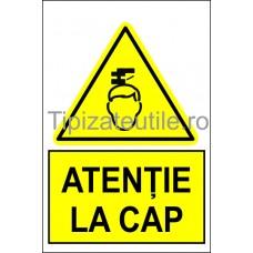 """Indicator """"Atentie la cap"""""""