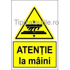 """Indicator """"Atentie la maini"""""""