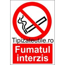 """Indicator""""Fumatul interzis"""""""