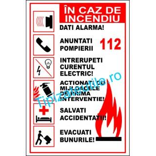 "Indicator""In caz de incendiu"""
