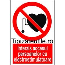 """Indicator""""Interzis accesul persoanelor cu electrostimulatoare"""""""