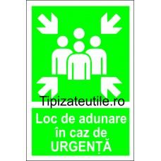"""Indicator""""Loc de adunare in caz de urgenta"""""""