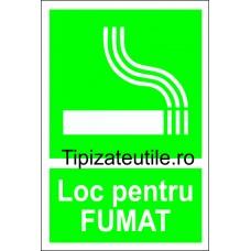 "Indicator""Loc pentru fumat"""