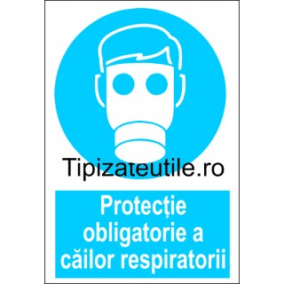 "Indicator""Protectie obligatorie a cailor respiratorii"""