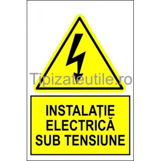 """Indicator """"Instalatie electrica sub tensiune"""""""
