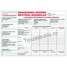 Organizarea apararii impotriva incendiilor - cu tabel A4