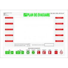 Plan de evacuare in caz de incendiu - A4