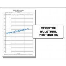 Registru Buletinul Posturilor - 100 file / 50 file / 25 file