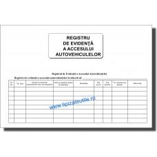Registru de evidenta a accesului autovehiculelor - 100 file / 50 file / 25 file