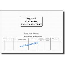 Registru evidenta obiective controlate - 100 file
