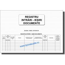 Registru intrari iesiri documente - 100 file/model 2