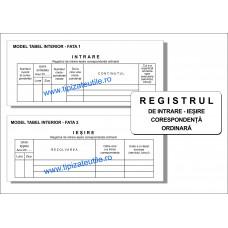 Registru de predare-primire corespondenta ordinara - 100 file