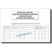 Registru special de evidenta contracte prestari servicii - 100 file
