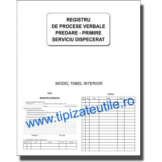 Registru de predare primire serviciu dispecerat