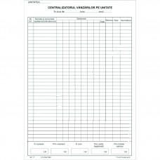 Registru Centralizatorul Vanzarilor pe Unitate