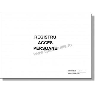 Registru Acces Persoane - 100 file / 50 file / 25 file