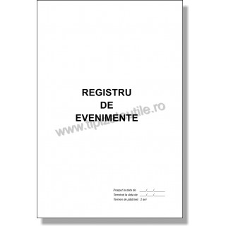 Registru de Evenimente - 100 file / 50 file / 25 file
