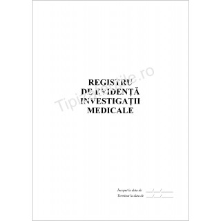 Registru de evidenta investigatii medicale