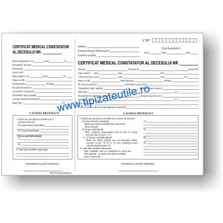 Certificat medical constatator al decesului