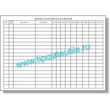 Registru Analiza Medicale de Laborator