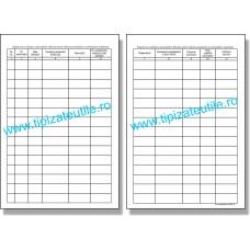 Registru de evidenta a autorizatiilor eliberate pentru ridicarea produselor si substantelor stupefiante