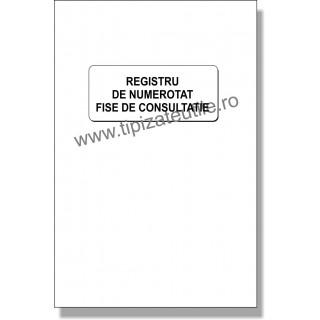Registru de numerotat fise de consultatie