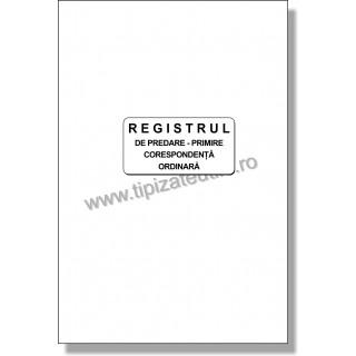 Registru de predare-primire corespondenta ordinara